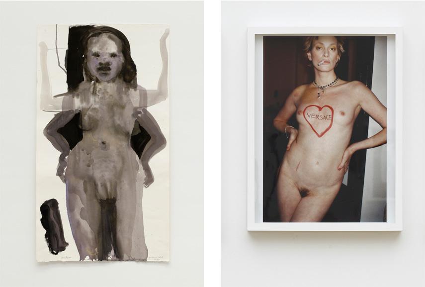 Left Marlene Dumas - Godess, 1997 Right Juergen Teller - Kristen McMenamy 3, London 1996, 1996