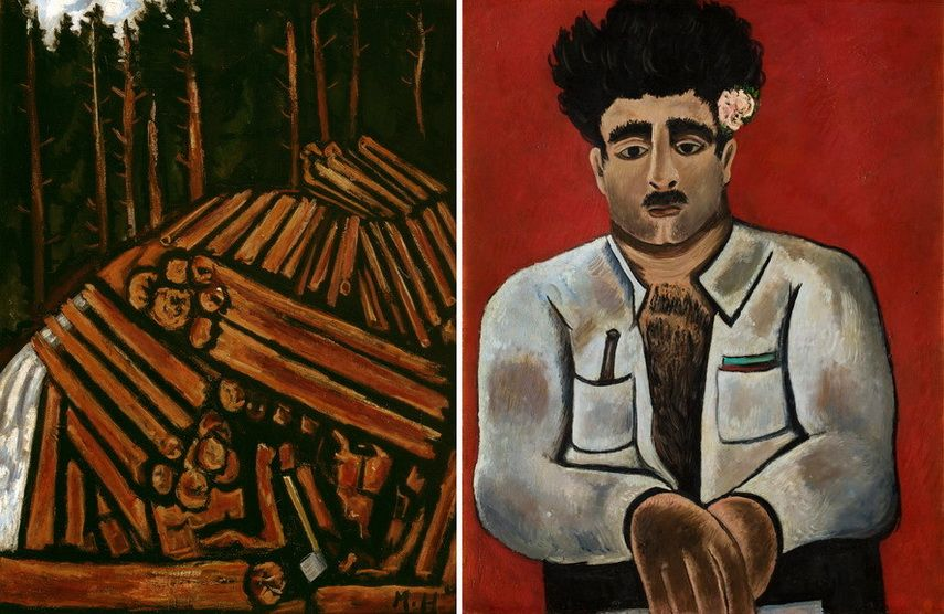 Left Marsden Hartley - Abundance Right Marsden Hartley - Adelard