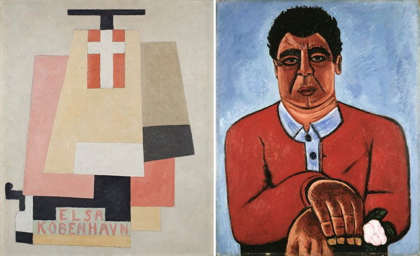 Left Marsden Hartley - Elsa Kobenhavn Right Marsden Hartley - Cleophas