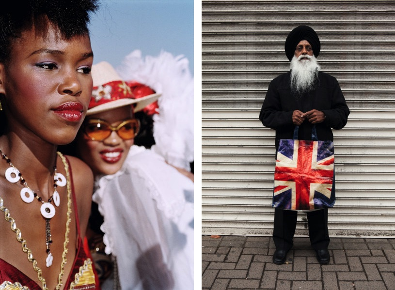 Durban July races, South Africa, 2005, Harbhajan Singh, Willenhall Market, Walsall, the Black Country, England, 2011 from the Brexit series