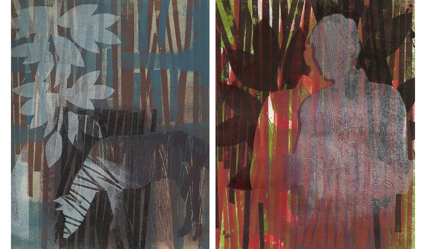 Left Martin Webb - Monotype 58, 2014, Right Martin Webb - Monotype 63, 2014