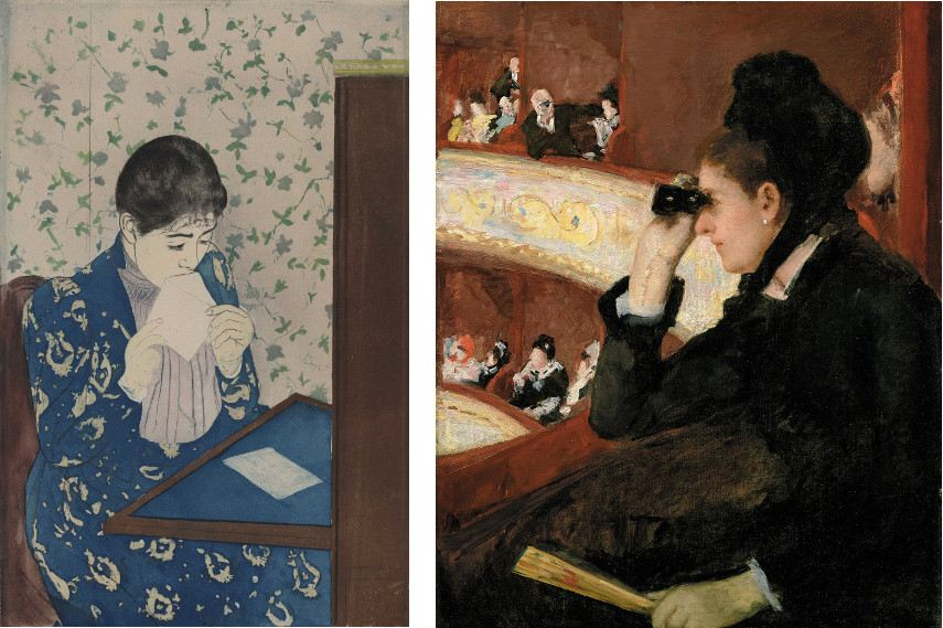 Left Mary Cassatt - The Letter Right Mary Cassatt - In the Loge