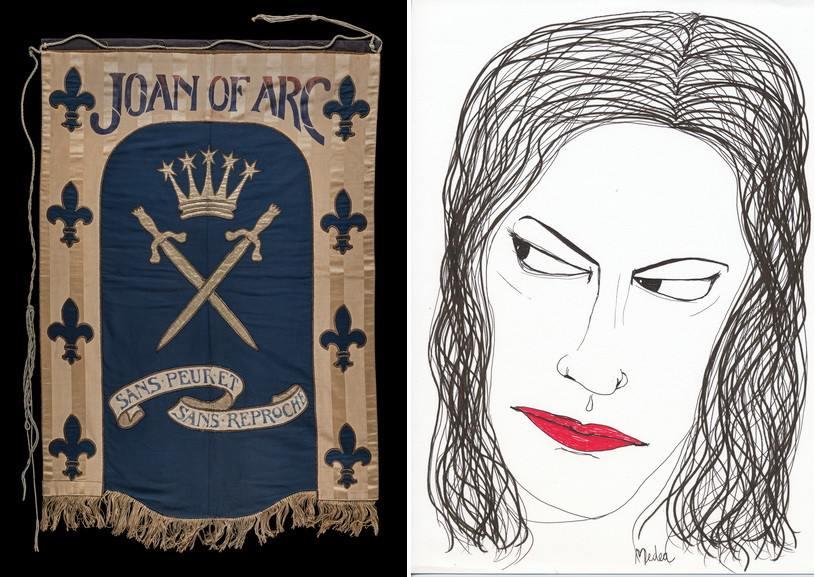 Left Mary Lowndes - Joan of Arc Right Carolina Caycedo - Medea