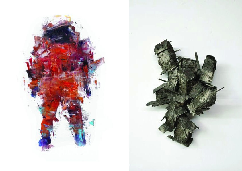 Matthew Ryan Herget - No Days Off Till We Take Off, 2015, Pim Palsgraaf - Mycose city 22, 2017NL=US Art; presented at press view