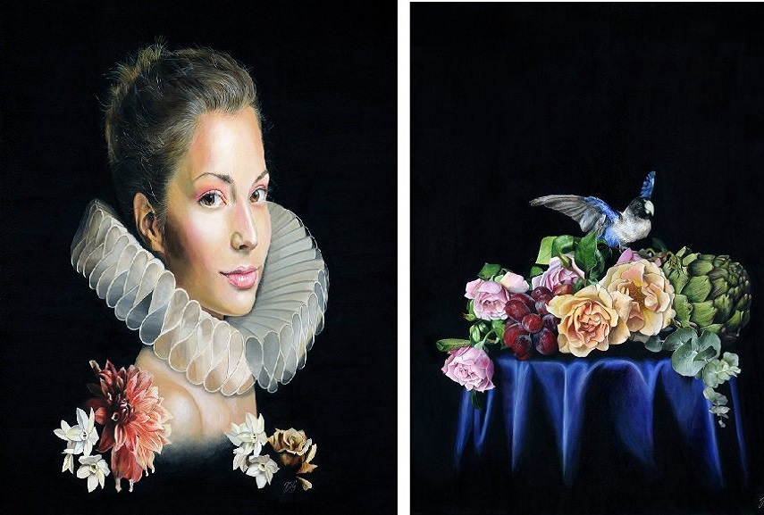 Left Melissa Hartley - Nocturnal Bloom. Right Melissa Hartley - Hearts a Flutter.
