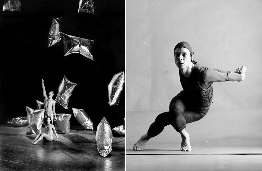 Left Merce Cunningham and Meg Harper in Rain Forest Right Merce Cunningham in Changeling