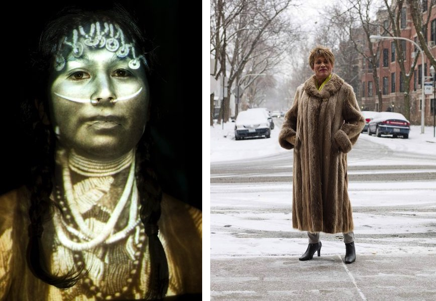 Left Meryl McMaster – Ancestral 9, 2008 Right Jess T. Dugan – Gloria, 70, Chicago, IL, 2016