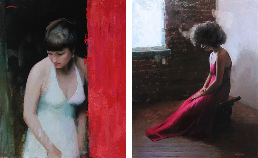 Left- Mia Bergeron - Distracted, 2016 - Right - Mia Bergeron - What Fear Invents, 2015