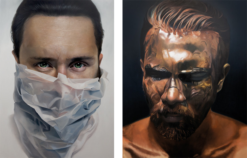 Left- Mike Dargas - Of Wolf and Man 2016; Right- Mike Dargas - Ride the Lightning 2016 - © Mike Dargas 2016 _ Opera Gallery