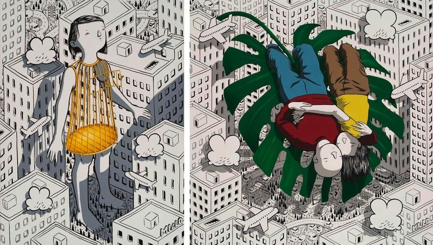Millo - Cage, 2019, Millo - Loose Ends for a Start, 2019