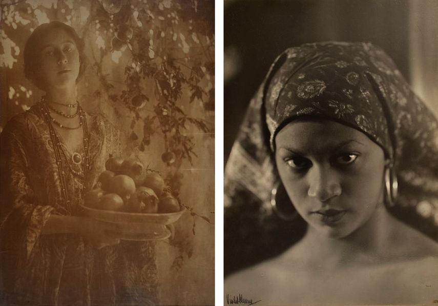 Minna Keene - Pomegranates, circa 1910, Violet Keene Perinchief - African Appeal, circa 1935