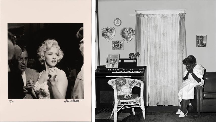 Left Murray Garrett – Marilyn Monroe, 1953 Right Rosalind Fox – Valentine Boxes, Chattanooga, Tennessee, 1976