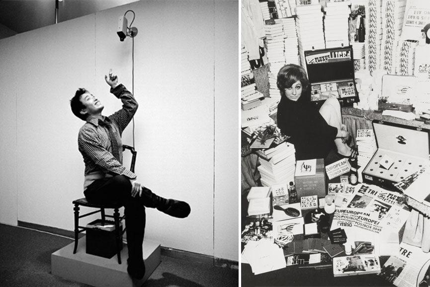 Left Nam June Paik - Werke, Music, Fluxus, Video, 1976 Right Willem de Ridder - European Mail-order Warehouse-Fluxshop, Winter 1964–65