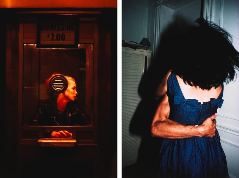"Nan Goldin - ""Variety"" booth, New York City, 1983, The Hug, New York City, 1980"