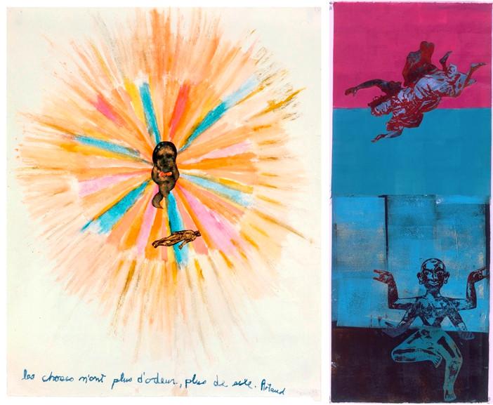 Left Nancy Spero - Artaud Painting Right Nancy Spero - To Soar