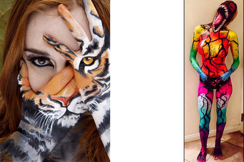 bodypainting bodypainting bodypainting painted design animal video women
