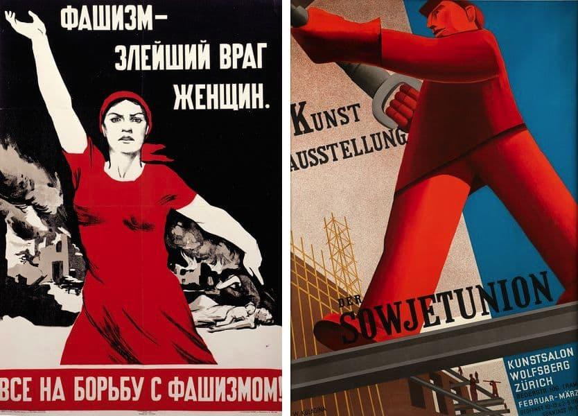 Nina Vatolina - Fascism The Most Evil Enemy of Women, 1941, Valentina Kulagina - Soviet Art Exhibition, 1931