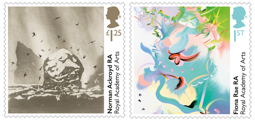 Special Stamps by Norman Ackroyd and Fiona Rae
