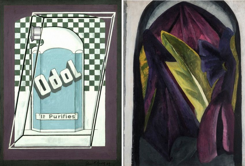 Left Stuart Davis - Odol Right - Helen Torr Purple _ Green Leaves