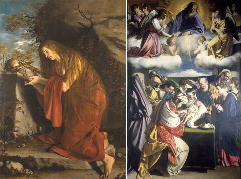 Left Orazio Gentileschi – Maddalena Right Orazio Gentileschi – Circumcision
