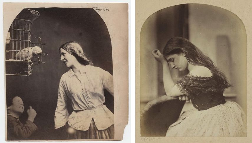Enchanted by a Parrot (Mary Rejlander?), about 1860, What Shall I Do?, about 1860