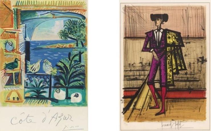 Cornette de saint cyr prints and multiples auction for Bernard buffet cote