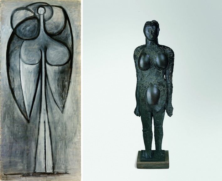 Left Pablo Picasso - La femme-fleur Right Pablo Picasso - Femme enceinte