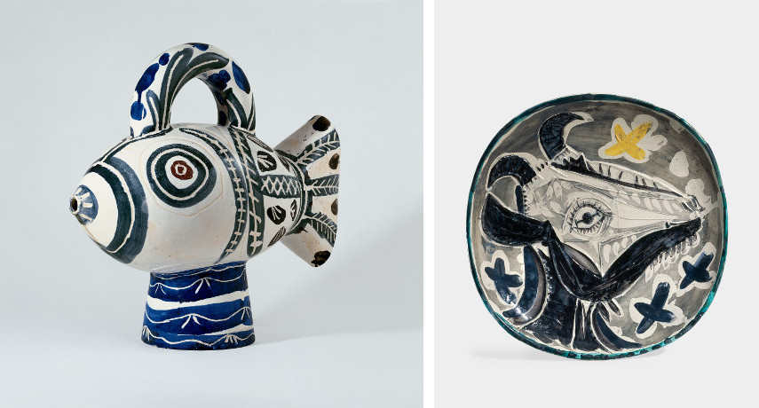 Picasso - Poisson, 1951 / Picasso - Tête de chèvre, 1956