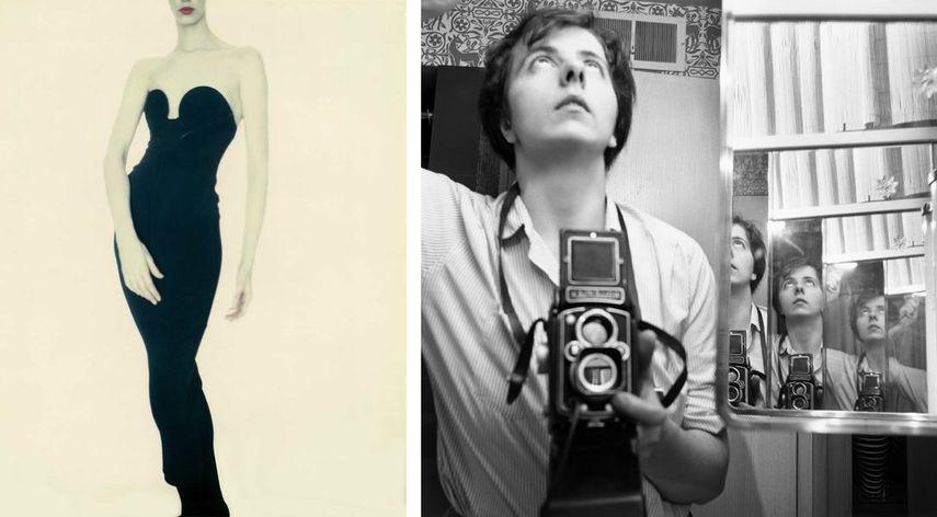Paolo Roversi - Meg, Alaïa Dress, 1987, Vivian Maier - Selbstporträt, 1956