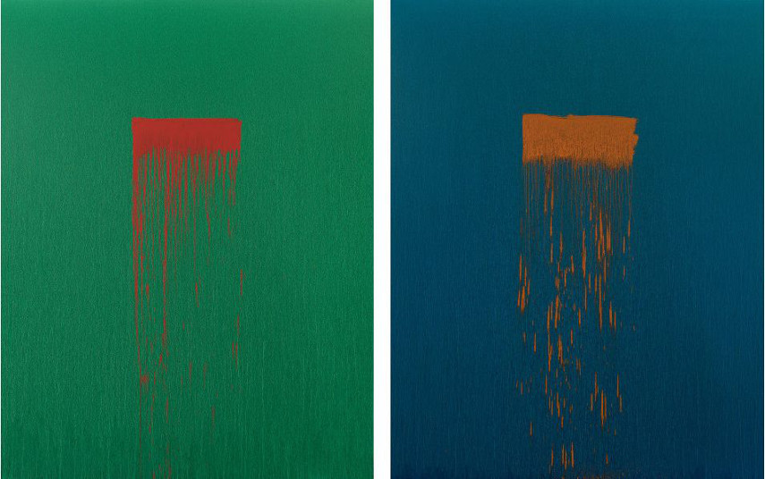 Pat Steir - Twenty (left) and Thirteen (right)
