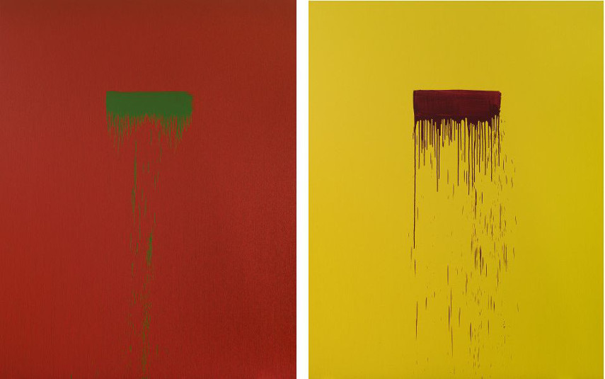 Pat Steir - Two (left) and Seven (right)