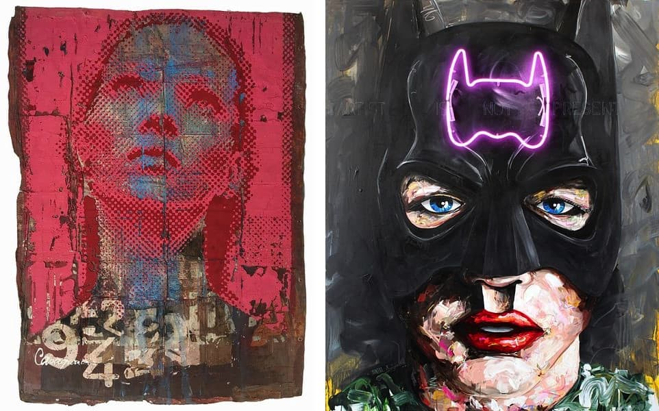 Patrizia Casagranda - Belief, Peintre X - Batman; also on view in berlin