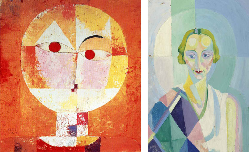abstract portraits reconciling the figurative and its opposite