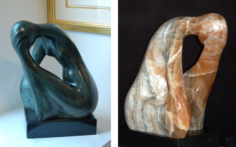 Left Paul Puccio - Bronze Donna, Right Paul Puccio - Brown onyx la Donna