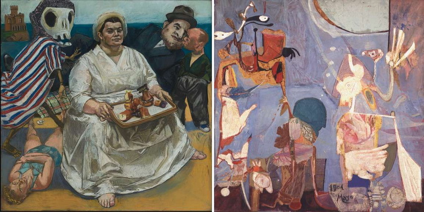 Left Paula Rego - The Cake Woman Right Paula Rego - The Exile