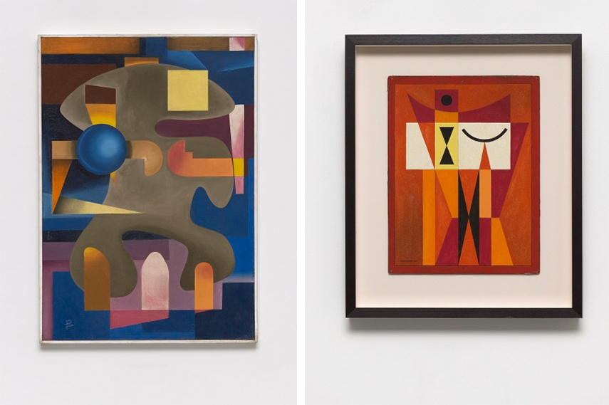 Left: Pedro Álvarez - Untitled, ca. 1952 / Right: Mario Carreño - Untitled, 1955