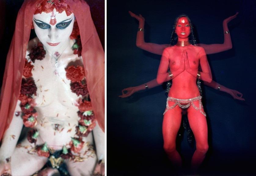 Left Penny Slinger - Penny as Shakti Right Penny Slinger - Penny as Red Dakini