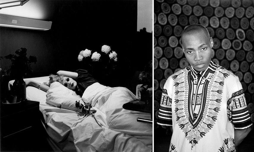 Left Peter Hujar - Candy Darling on her Deathbed Right Zanele Muholi - TK Thembi Khumalo