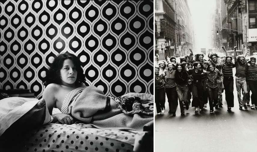 Left Peter Hujar - Fran Lebowitz Right Peter Hujar - Gay Liberation Front