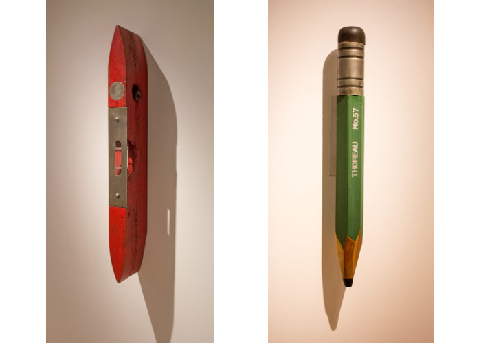 Left Peter Kirkiles - Torpedo Level, 2015, Right Peter Kirkiles - Henry's Pencil, 2015