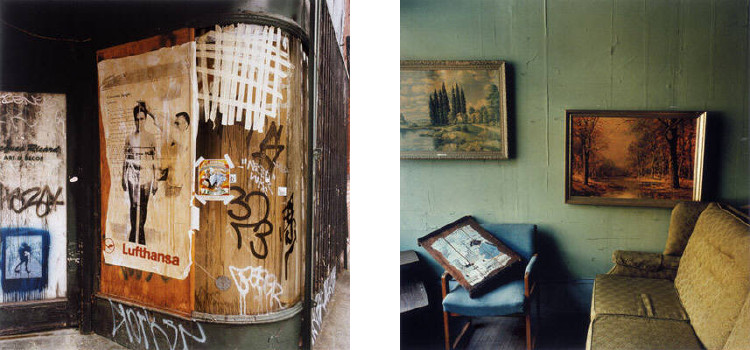 Left: Phil Bergerson - New York, New York, #2, 2001, American Shards / Right: Phil Bergerson - Richmond, Indiana, 1998, American Shards, photo credits - Stephen Bulger Gallery