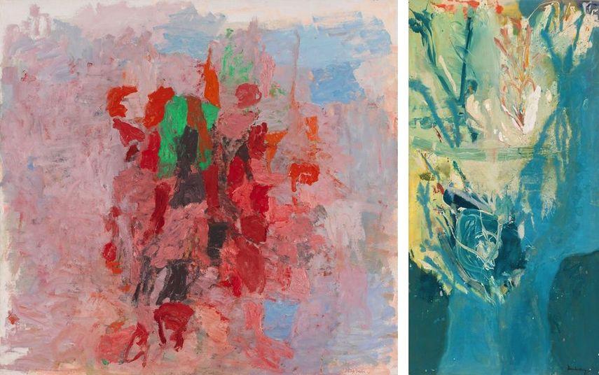 hilip Guston - Dial, 1956, Helen Frankenthaler - Blue Territory, 1955