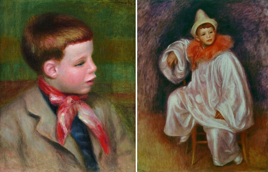 Left Pierre-Auguste Renoir - Portrait of Jean Renoir Right Pierre-Auguste Renoir - Jean Renoir in Pierrot