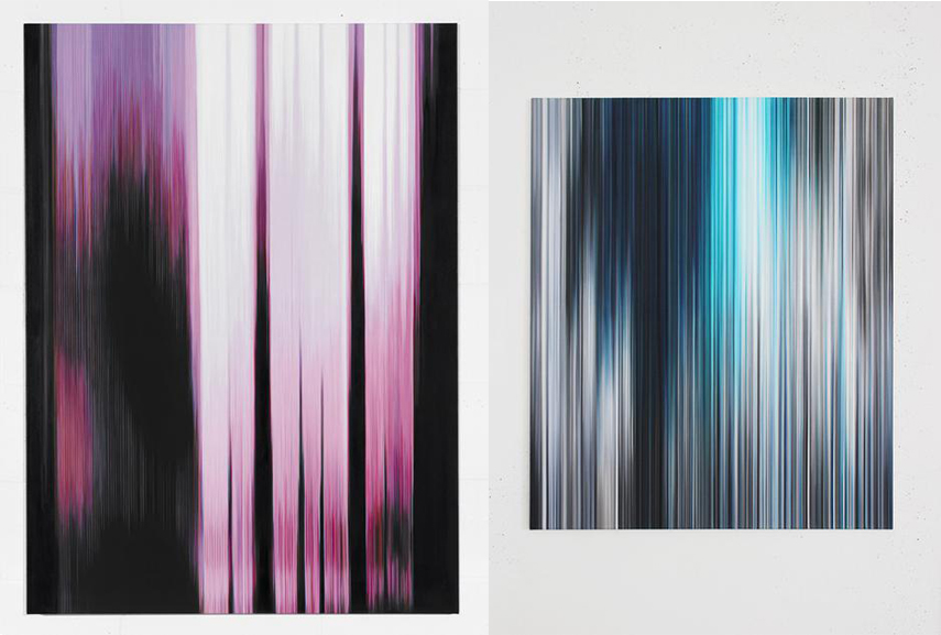 Left Pink Painting (Figure No.1) Doris Marten Right Light'n'Lines No.01 Doris Marten