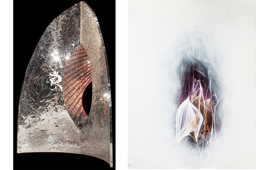 Left- Pooya Aryanpour - Beautiful Virgin 2015; Right- Pooya Aryanpour - Untitled 2015