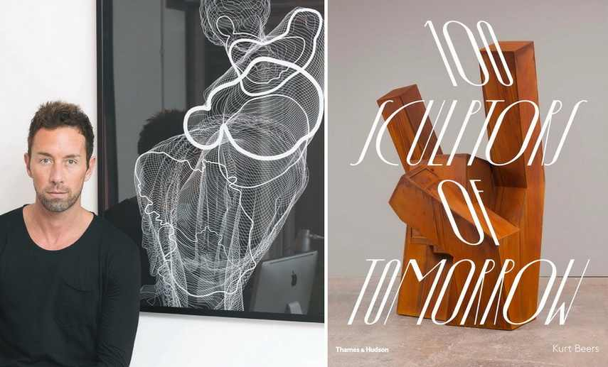 Left Portrait of Kurt Beers Right 100 Sculptors of Tomorrow book cover