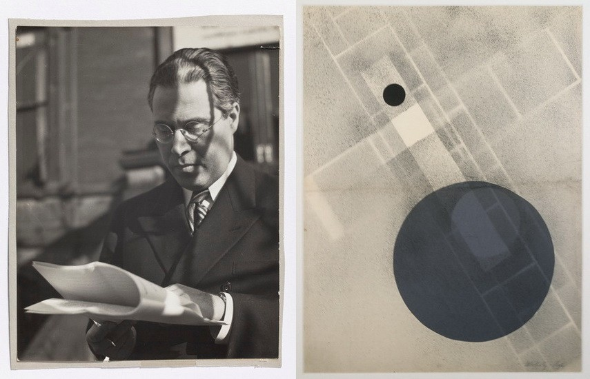 Left Portrait of Laszlo Moholy-Nagy Right Laszlo Moholy-Nagy – Untitled