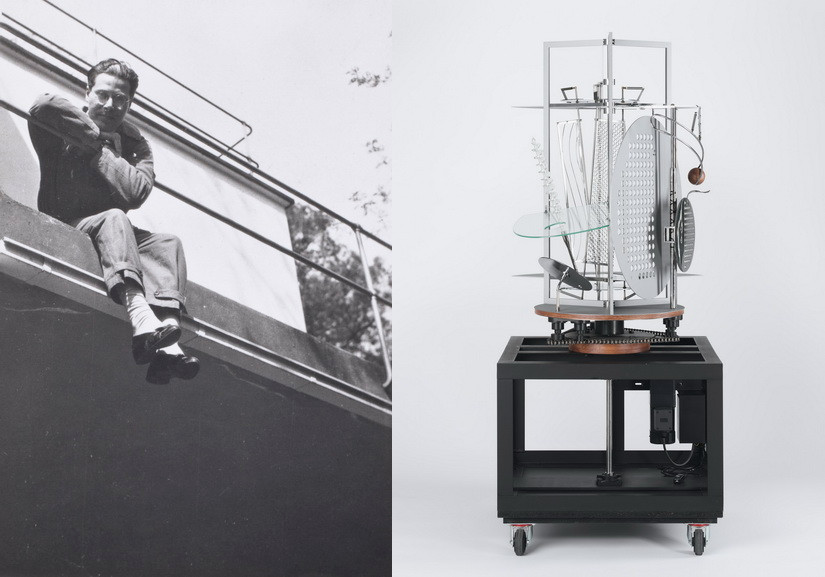 Left Portrait of Laszlo Moholy-Nagy Right Laszlo Moholy-Nagy - Light Prop for an Electric Stage