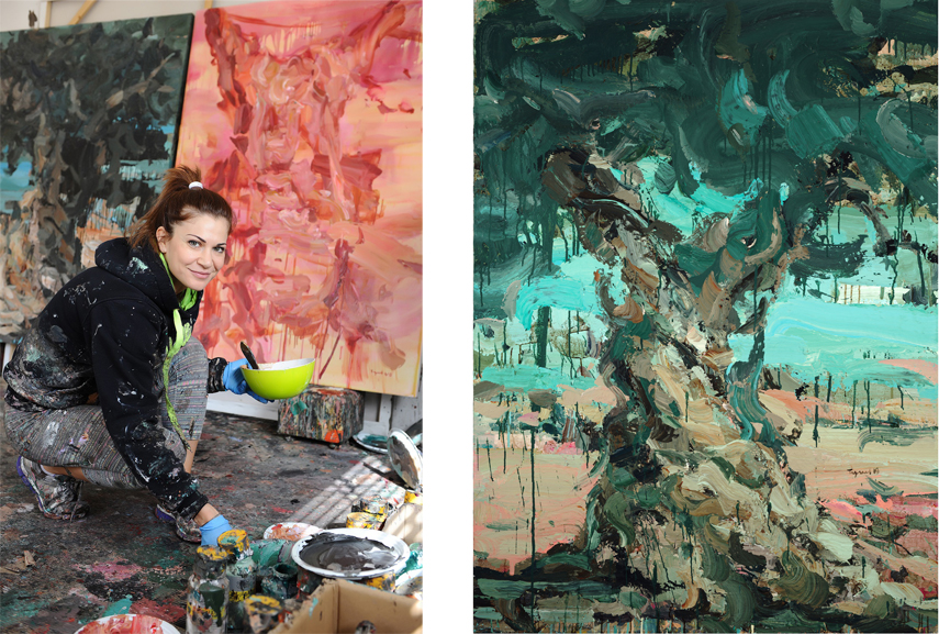 Left Portrait of Tagreed Darghouth Right Tagreed Darghouth – From The Tree Within series, 2018 – 2019
