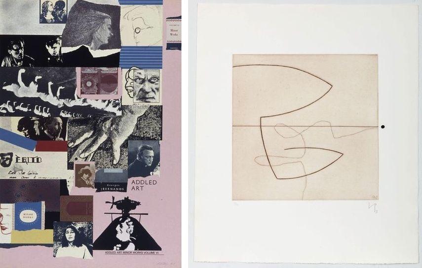 R.B. Kitaj - Addled Art Minor Works Volume VI, 1975, Victor Pasmore - Linear Motif 6, 1965-76